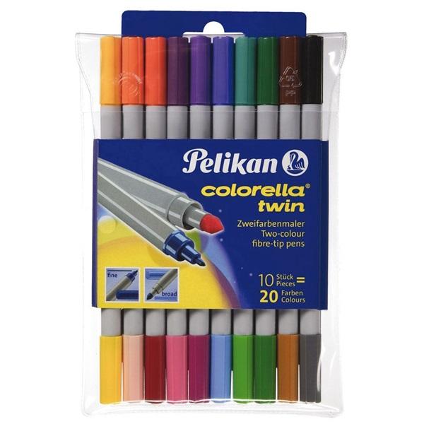 Pelikan Colorella Twin dupla 10db-os kétvégű rostirón készlet - 1