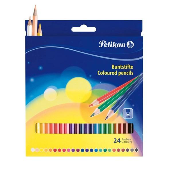 Pelikan lakkozott 24db-os vegyes színű színes ceruza - 1