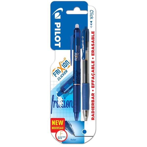 Pilot Frixion Clicker 1+1db-os kék rollertoll + golyóstoll - 1