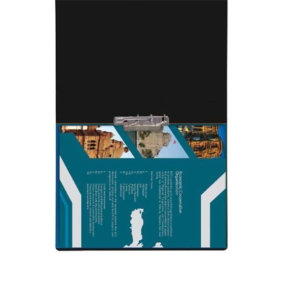Plastweld A3 PVC fekete villámzáras mappa - 1