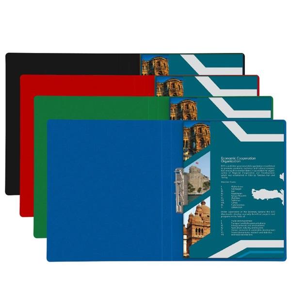 Plastweld A4 PVC kék villámzáras mappa - 1