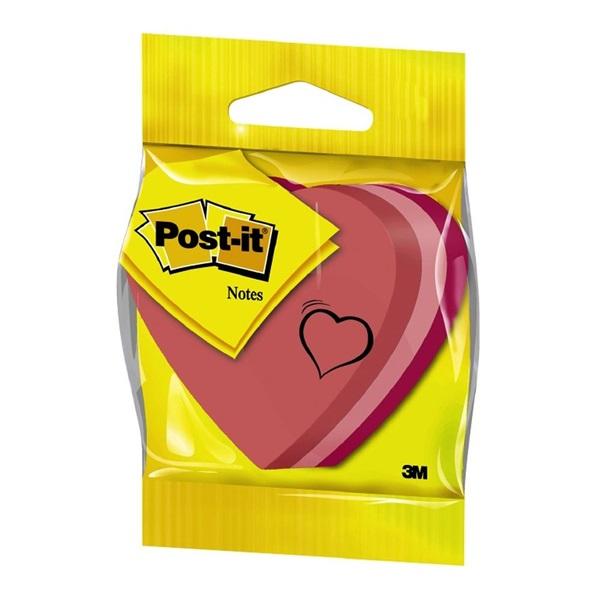 Post-it 2007-H szív alakú öntapadós jegyzettömb - 1