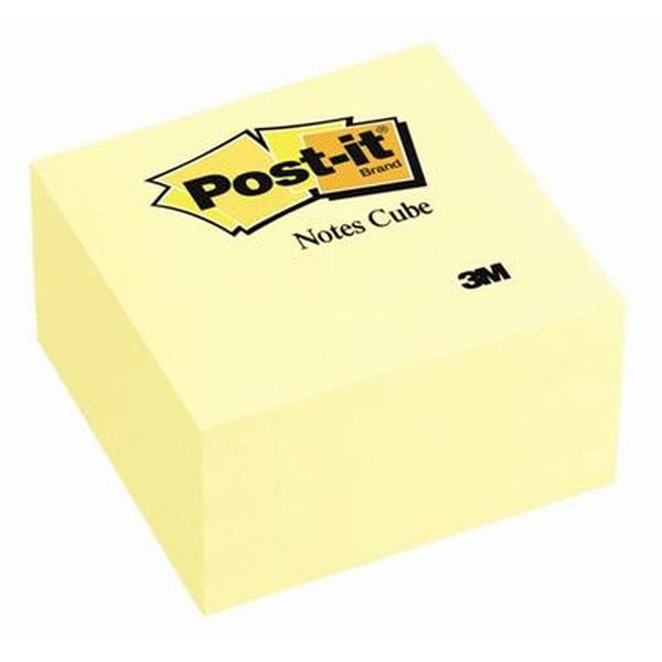 Post-it 76x76mm 450 lapos öntapadós sárga kockatömb - 1