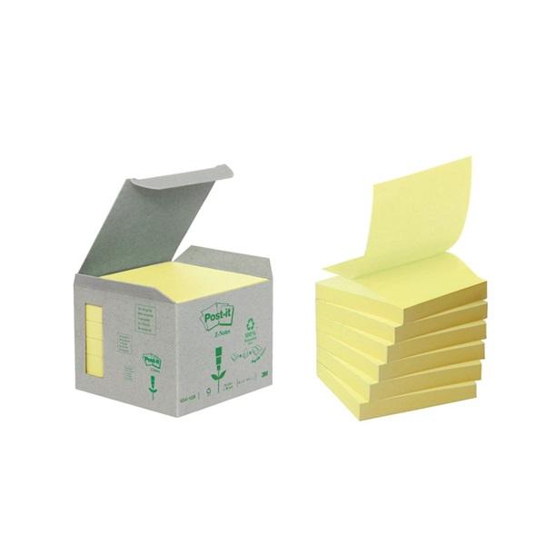 Post-it újrahasznosított 6 sárga Z-tömb - 1
