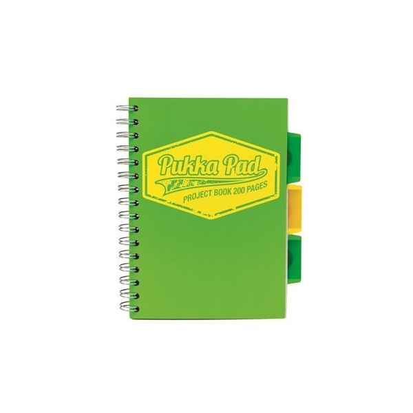 Pukka Pad Project Book Neon B5 kockás zöld spirálfüzet - 1