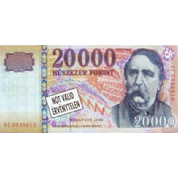 Ragasztott bankjegy mintás jegyzettömb - 1