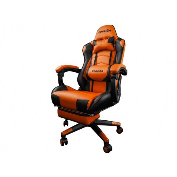 RAIDMAX Drakon DK709 narancssárga / fekete gamer szék - 2