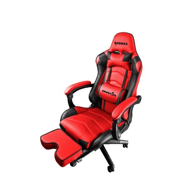 RAIDMAX Drakon DK709 piros / fekete gamer szék - 1