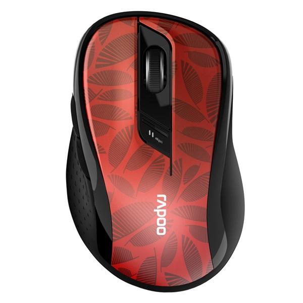 """Rapoo M500"""" Bluetooth vezeték nélküli piros egér - 1"""