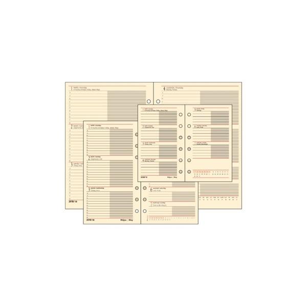 Realsystem 2021-es 1/500 éves heti beosztású gyűrűs naptár kiegészítő - 2