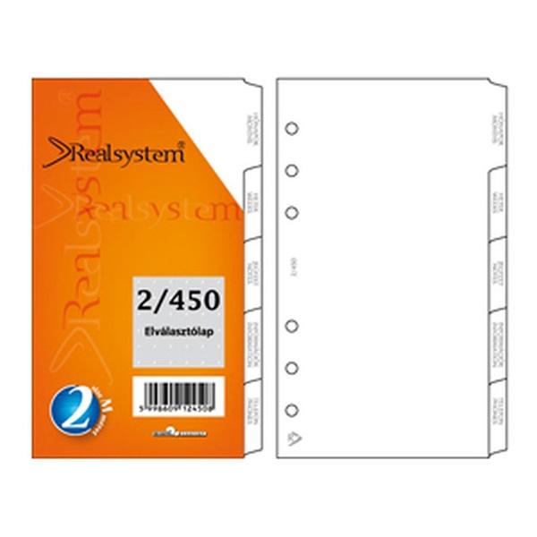 Realsystem 2021-es 2/450 elválasztó lap gyűrűs naptár kiegészítő - 1