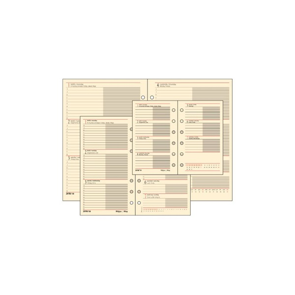 Realsystem 2021-es 2/500 éves heti beosztású gyűrűs naptár kiegészítő - 2