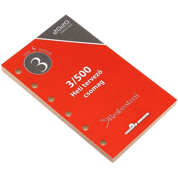 Realsystem 2021-es 3/500 éves heti beosztású gyűrűs naptár kiegészítő - 1
