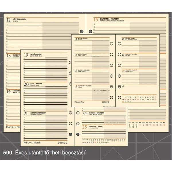 Realsystem 2021-es 3/500 éves heti beosztású gyűrűs naptár kiegészítő - 2