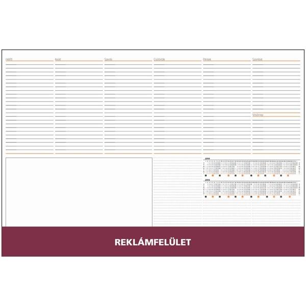 Realsystem 2021-es 7141 bordó asztali könyöklő - 1
