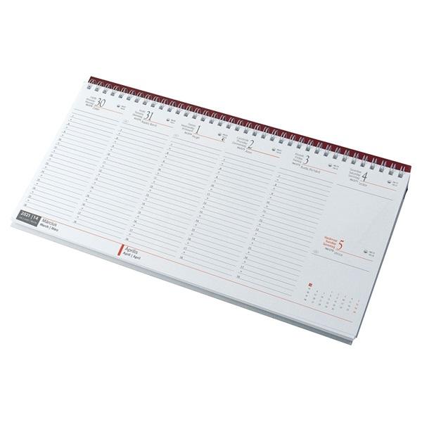 Realsystem 2021-es 7931-09 bordó asztali naptár - 1