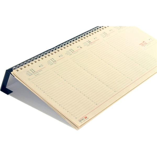 Realsystem 2021-es 7932 sárga papíros fekvő kék asztali naptár - 2