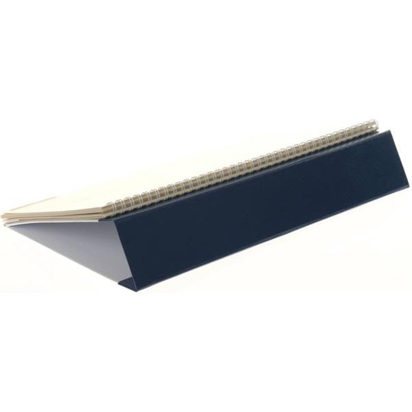 Realsystem 2021-es 7932 sárga papíros fekvő kék asztali naptár - 3