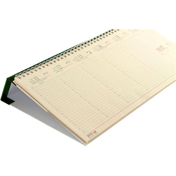 Realsystem 2021-es 7932 sárga papíros fekvő zöld asztali naptár - 2