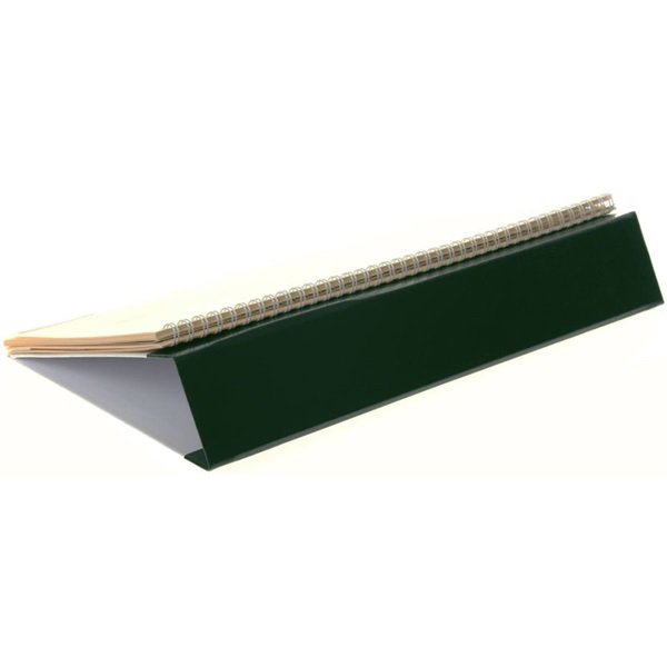 Realsystem 2021-es 7932 sárga papíros fekvő zöld asztali naptár - 3