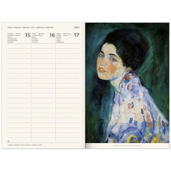 Realsystem 2021-es Gustav Klimt 5412 B6 zsebnaptár - 3