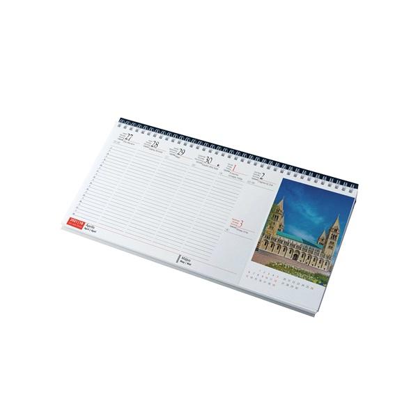 Realsystem 2021-es Magyarország 7991-04 képes kék asztali naptár - 2