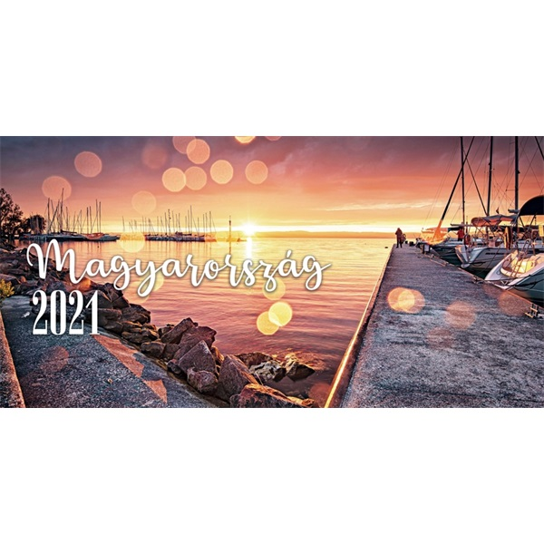 Realsystem 2021-es Magyarország 7991 képes zöld asztali naptár - 2
