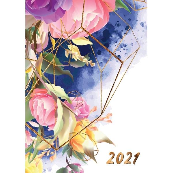 Realsystem 2021-es Picture 5321-60 akvarel A5 napi beosztású határidőnapló - 1