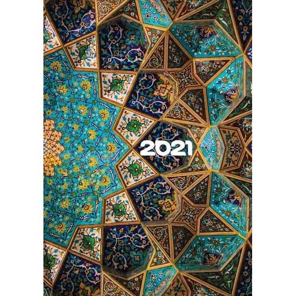 Realsystem 2021-es Picture 5321-67 mozaik A5 napi beosztású határidőnapló - 1