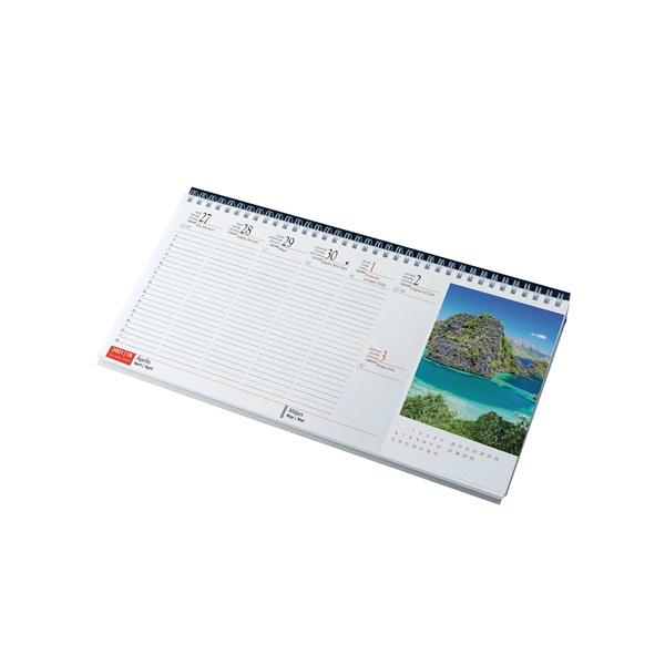 Realsystem 2021-es Sziget 7971-01 képes fekete asztali naptár - 2