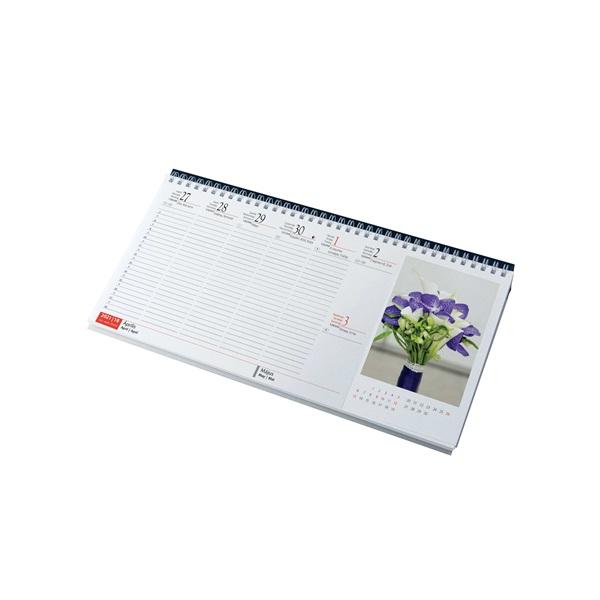 Realsystem 2021-es Virágok 7981-04 képes kék asztali naptár - 2