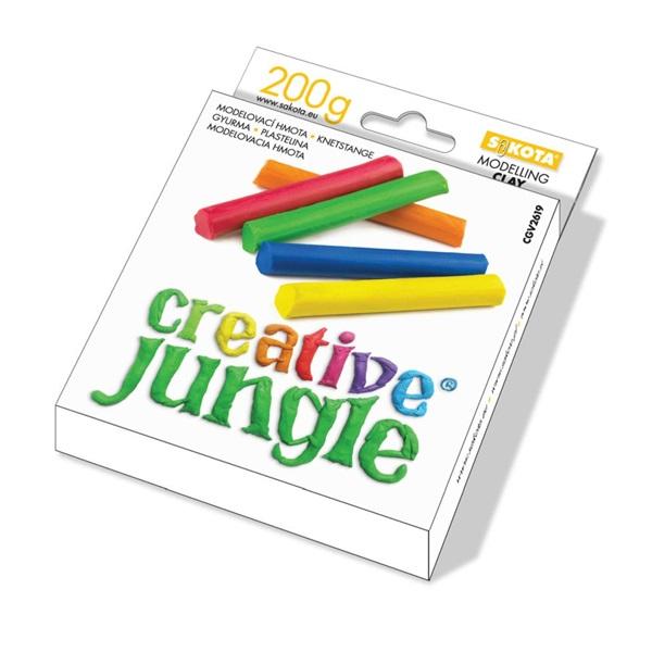 Sakota Creative Jungle 200g 12 színű gyurma - 1