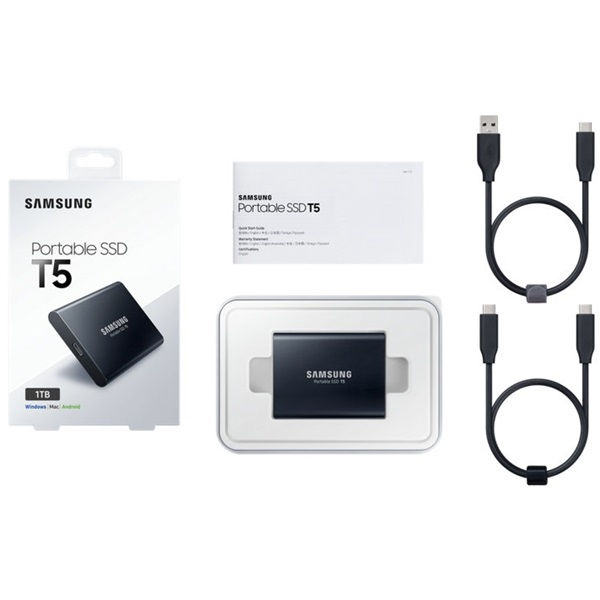 Samsung 1024GB USB 3.1 (MU-PA1T0B/EU) fekete T5 külső SSD - 3