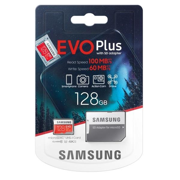 Samsung 128GB SD micro EVO Plus (SDXC Class10) (MB-MC128HA/EU) memória kártya adapterrel - 4
