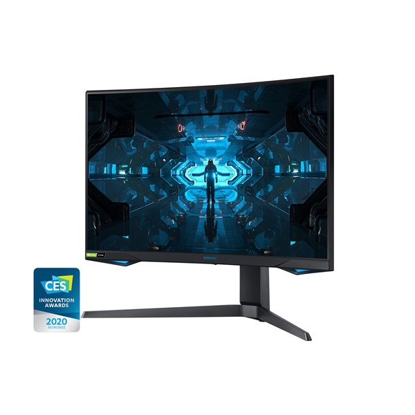 Samsung 26,9 C27G75TQSR QLED WQHD HDMI 2Display port 240Hz ívelt kijelzős monitor - 3