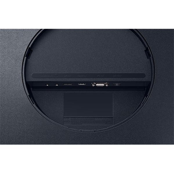 Samsung 27 C27T550FDR LED HDMI Display port ívelt kijelzős kékes sötétszürke monitor - 7