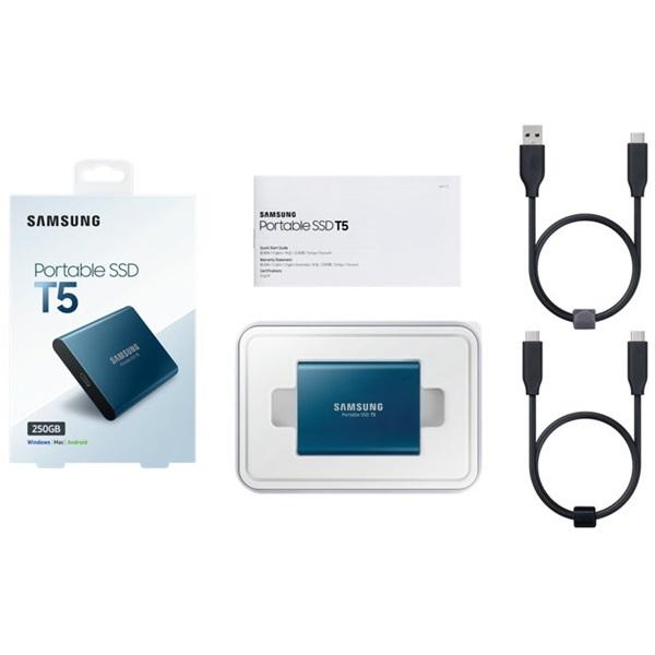 Samsung 500GB USB 3.1 (MU-PA500B/EU) kék T5 külső SSD - 3