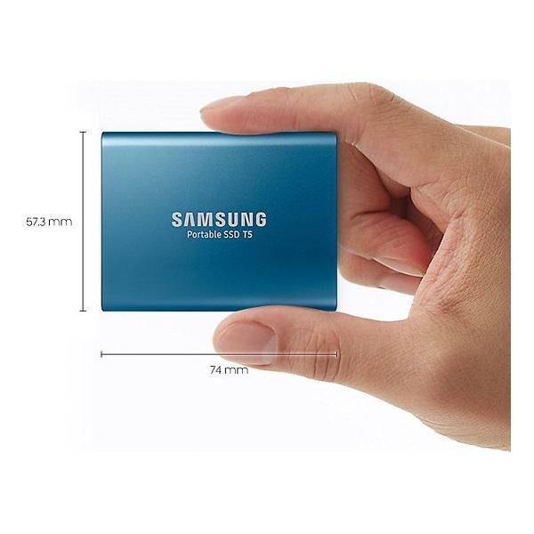Samsung 500GB USB 3.1 (MU-PA500B/EU) kék T5 külső SSD - 4