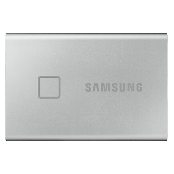 Samsung 500GB USB 3.2 (MU-PC500S/WW) ezüst ujjlenyomatolvasós T7 Touch külső SSD - 1