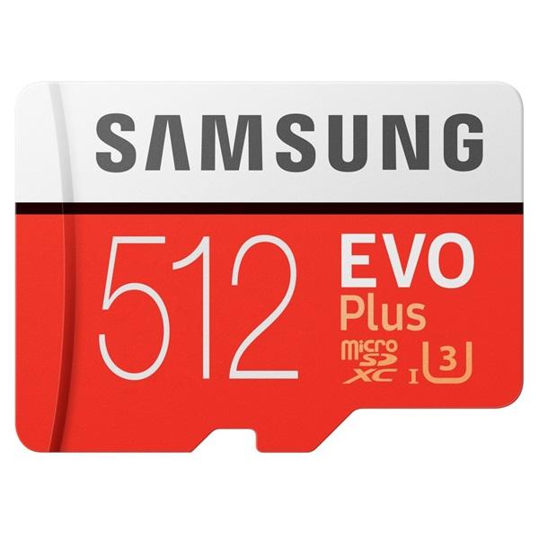 Samsung 512GB SD micro EVO Plus (SDXC Class10) (MB-MC512HA/EU) memória kártya adapterrel - 1