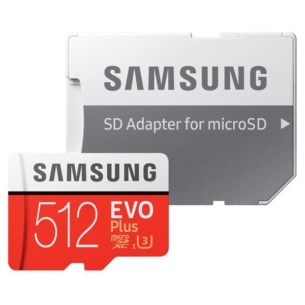 Samsung 512GB SD micro EVO Plus (SDXC Class10) (MB-MC512HA/EU) memória kártya adapterrel - 2