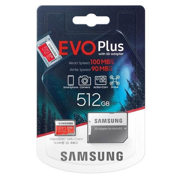 Samsung 512GB SD micro EVO Plus (SDXC Class10) (MB-MC512HA/EU) memória kártya adapterrel - 4