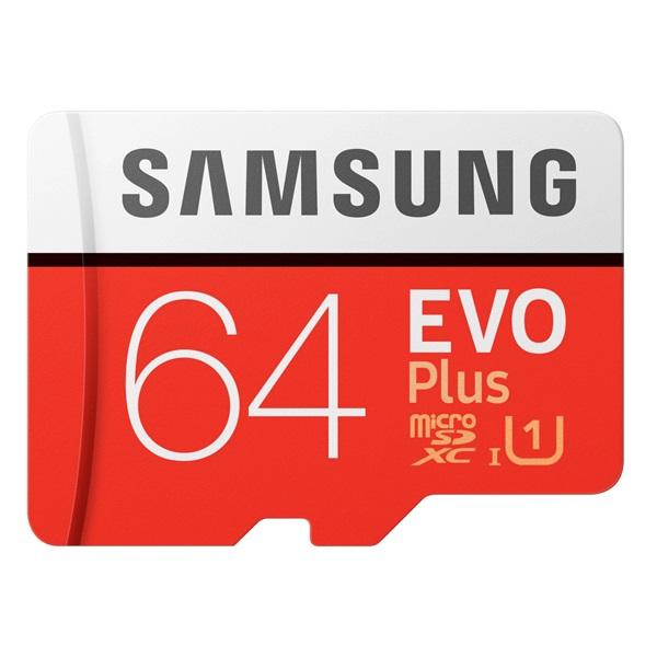 Samsung 64GB SD micro EVO Plus (SDXC Class10) (MB-MC64HA/EU) memória kártya adapterrel - 1