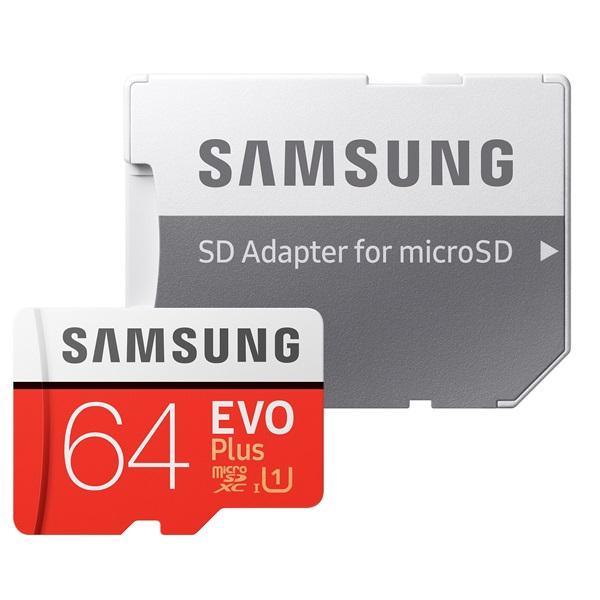 Samsung 64GB SD micro EVO Plus (SDXC Class10) (MB-MC64HA/EU) memória kártya adapterrel - 2