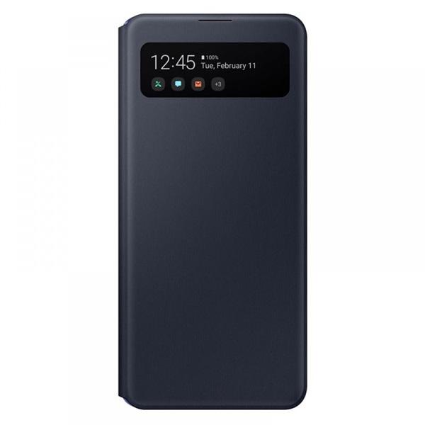 Samsung OSAM-EF-EA415PBEG Galaxy A41 s-view wallet cover fekete védőtok - 1