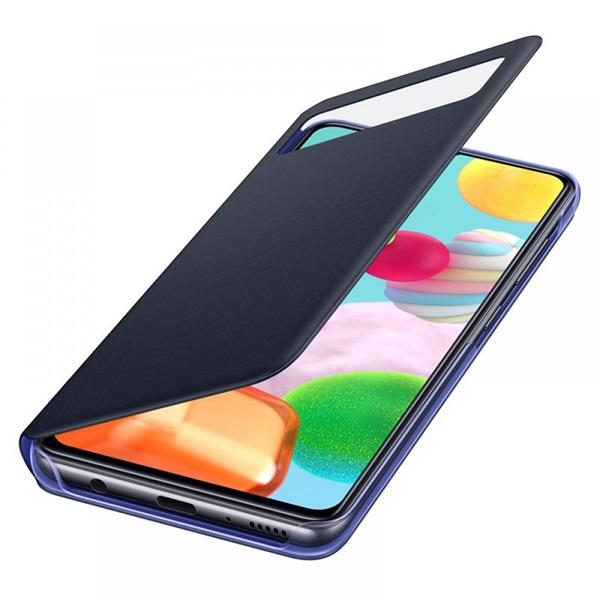 Samsung OSAM-EF-EA415PBEG Galaxy A41 s-view wallet cover fekete védőtok - 3