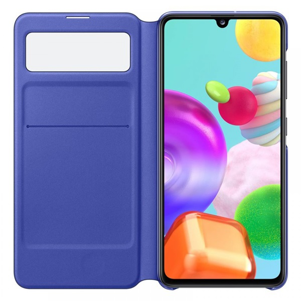 Samsung OSAM-EF-EA415PBEG Galaxy A41 s-view wallet cover fekete védőtok - 4
