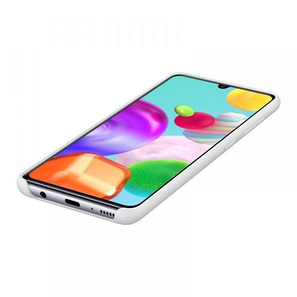 Samsung OSAM-EF-PA415TWEG Galaxy A41 fehér szilikon védőtok - 3
