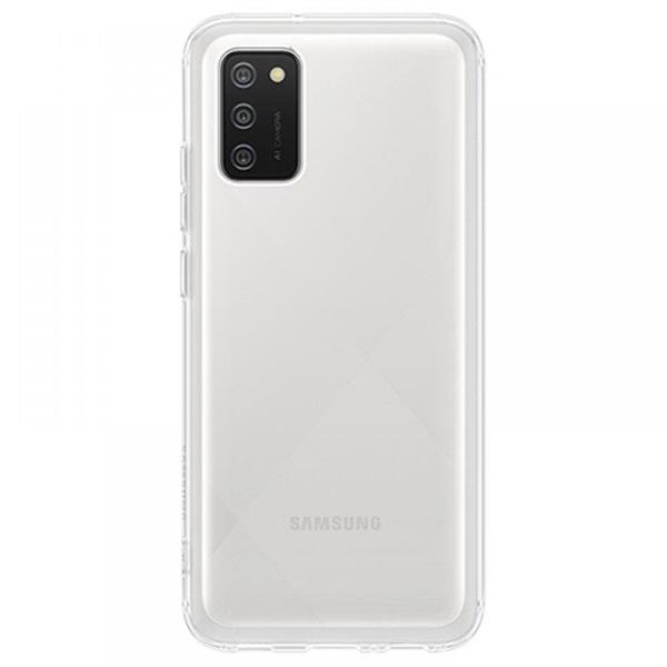 Samsung OSAM-EF-QA026TTEG Galaxy A02S átlátszó oldalra nyíló tok - 1