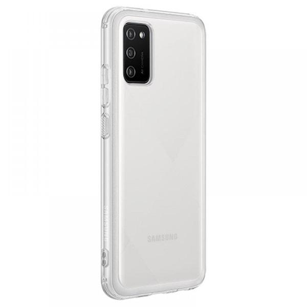 Samsung OSAM-EF-QA026TTEG Galaxy A02S átlátszó oldalra nyíló tok - 3